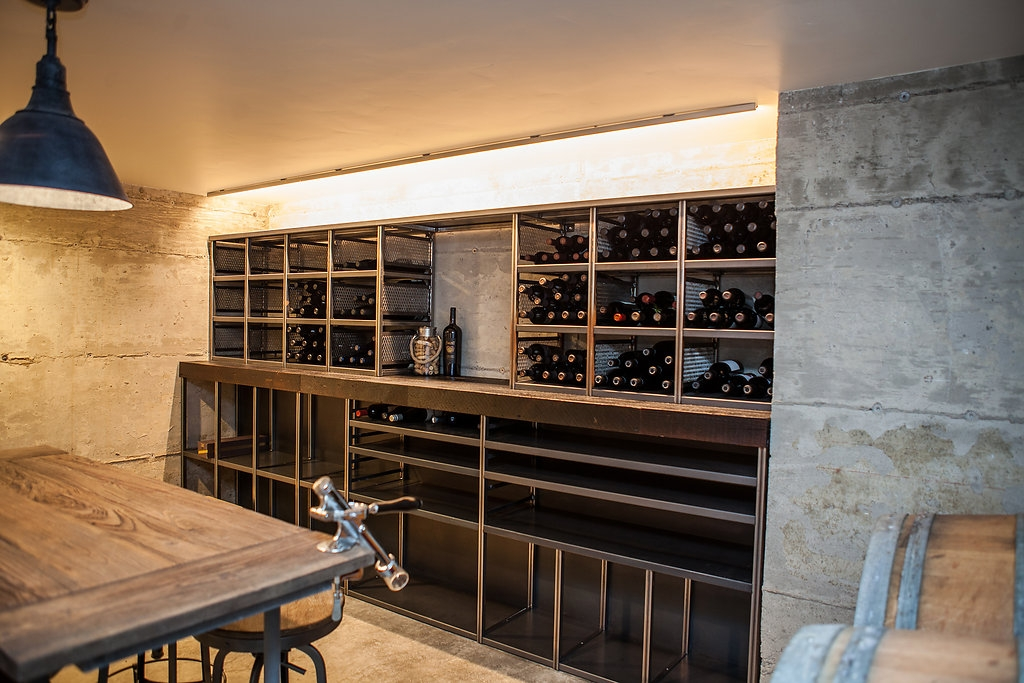 wine cellar Modern Classic Custom Home in Tetherow (Bend, Oregon)