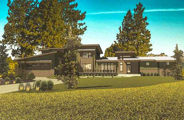 Architectural Rendering of Tetherow Lot 23 Bend Oregon