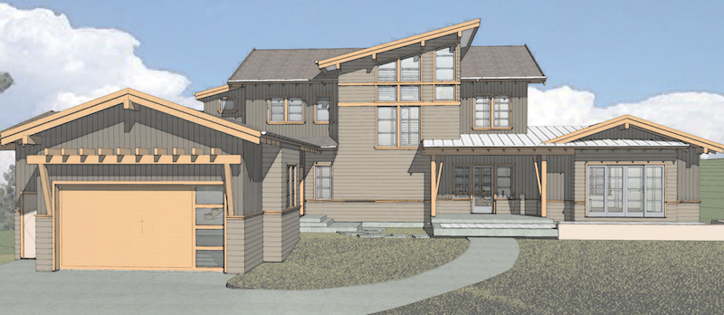roseborrough custom home rendering